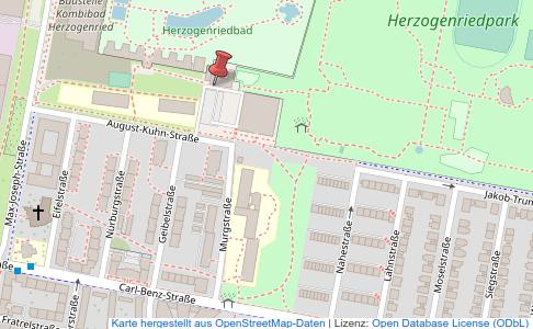 Kartenausschnitt DLRG-Geschäftsstelle Detail